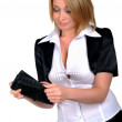 Young business woman with a wallet — Stock Photo #4012368