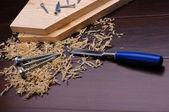 Virutas de madera — Foto de Stock