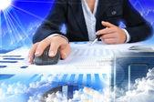 Werkplek zakenman — Stockfoto