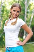 Genç güzel kız — Stok fotoğraf