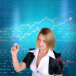 Working Girl drawing color graphics — Stock Photo #4097133