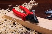 Trucioli di legno — Foto Stock