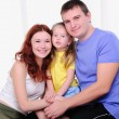 Mother, a young father and young daughter — Stock Photo #4141941