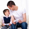 Young father and son together — Stock Photo