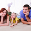 Mother, a young father and young daughter — Stock Photo #4162298
