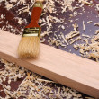Shavings of wood, - Stock Photo