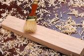 Shavings of wood, — Stock Photo