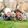 Mother and son together having fun - Foto Stock