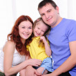 Mother, a young father and young daughter — Stock Photo