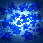 Elements of the puzzle — Stock Photo