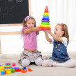 Two little girls play — Stock Photo