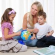 Young mother, her daughter and young son — Stock Photo #4231685