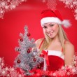 Royalty-Free Stock Photo: Young girl dressed as Santa Claus