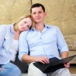 Young couple spends time together — Stock Photo