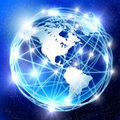 Dünya ve iletişim — Stok fotoğraf