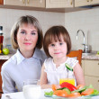Mama and her little daughter — Stock Photo #4251991