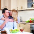 Wife and husband have breakfast — Stock Photo #4260262