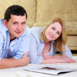 Stock Photo: Young couple spends time together