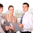 Team of young successful business - Stock Photo