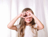 Portrait of a young beautiful girl. — Stock Photo