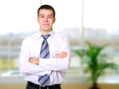 Young business man — Stok fotoğraf