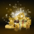 Abstract background with a New Year's gifts — Stock Photo #4454869
