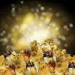 Abstract background with a New Year's gifts — Stock Photo