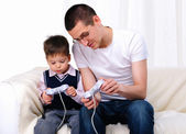 Young father and son together — Foto Stock