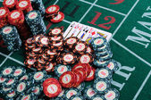 Place a poker player — Stock fotografie