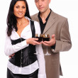 Young charming couple — Stock Photo #4467794