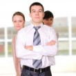 Team of young successful business — Stock Photo