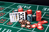 Place a poker player — Stock Photo