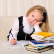 Little girl has been studying — Foto Stock