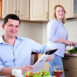 The wife and husband — Stock Photo