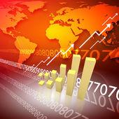 全球业务的抽象背景 — 图库照片