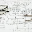 Drawings of building — Stock Photo