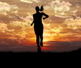 Silhouette of a woman — Stock Photo