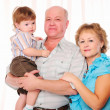 Grandmother, grandfather and grandson — Stockfoto