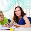 Little boy and his mom have fun spending time together — Stock Photo #4510922