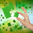 Elements of the puzzle - Stock Photo