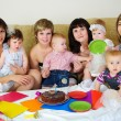 Royalty-Free Stock Photo: Mothers and their children gathered together