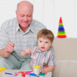 Grandfather and his grandson — Stock Photo #4511567