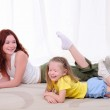 Young mother with her daughter — Stock Photo #4511575