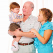 Grandmother, grandfather and grandson — Stock Photo #4513728