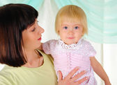 Little girl and her mom — Stock Photo