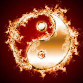Symbol of yin and yang of the background. — Stock fotografie