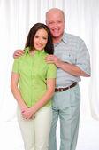 高齢の父と娘 — ストック写真
