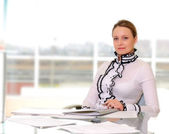 Young business woman — Stock Photo