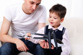 Father and his young son — Stock Photo
