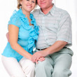 Stock Photo: Grandparents together. Elderly couple